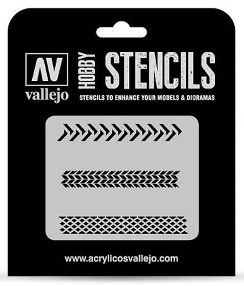 Vallejo: Hobby Stencil Tyre Markings