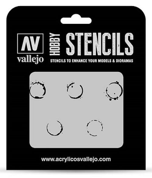 Vallejo: Hobby Stencil Drum Oil Markings