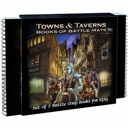 Loke Maps Book of Battle Mats: Towns and Taverns