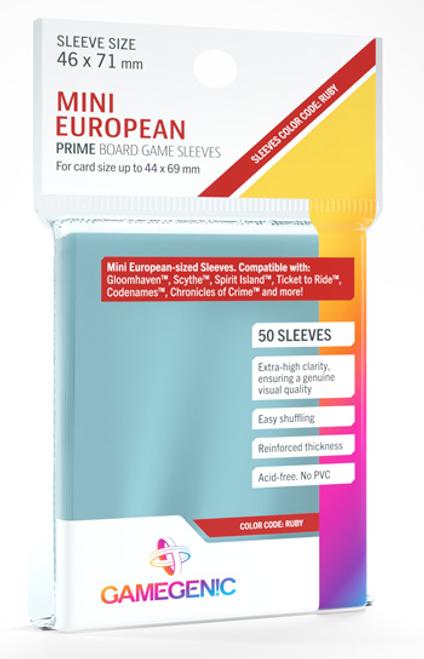 Card Sleeves: Gamegenic: Mini European Prime: Code Ruby