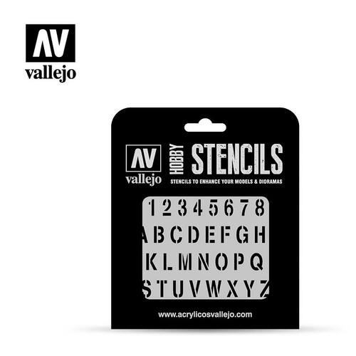 Vallejo: Hobby Stencil Stamp Font