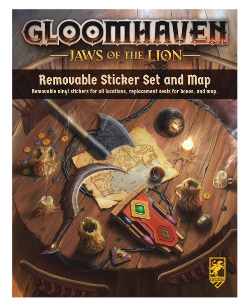 Gloomhaven Jaws of the Lion Removable Sticker Set