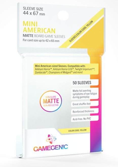 Card Sleeves: Gamegenic: Mini American Matte: Code Yellow