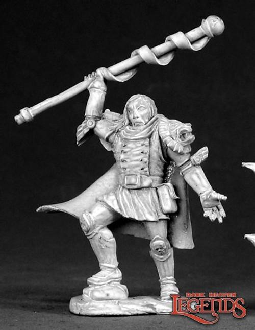 Metal Mini Reaper 03305: Tallus Tenspell, Wizard
