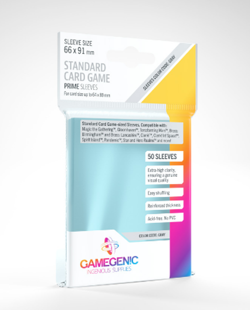 Card Sleeves: Gamegenic: Standard Card Game Prime: Code Grey