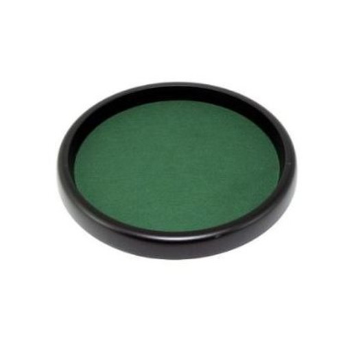 """Dice Tray: 13""""in Round with Green Felt"""