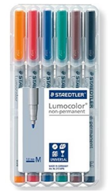 Staedtler Lumocolor Water Soluble Marker Set 6-Pack Multicolour