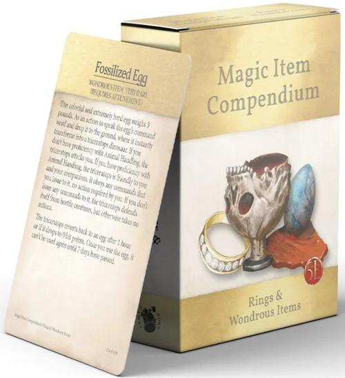 Magic Item Compendium: Rings and Wondrous Items Deck