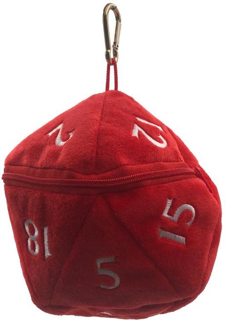 Dice Bag D20 Plush Red