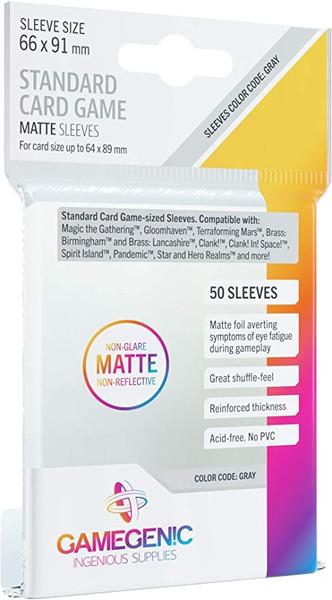 Card Sleeves: Gamegenic: Standard Card Game Matte: Code Grey