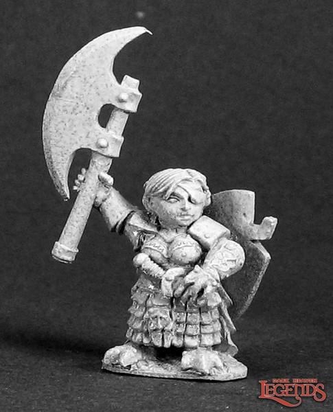 Metal Mini Reaper 03293: Ursula Silverbraid, Dwarf