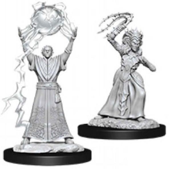Mini Drow Mage and Drow Priestess Nolzur WV12