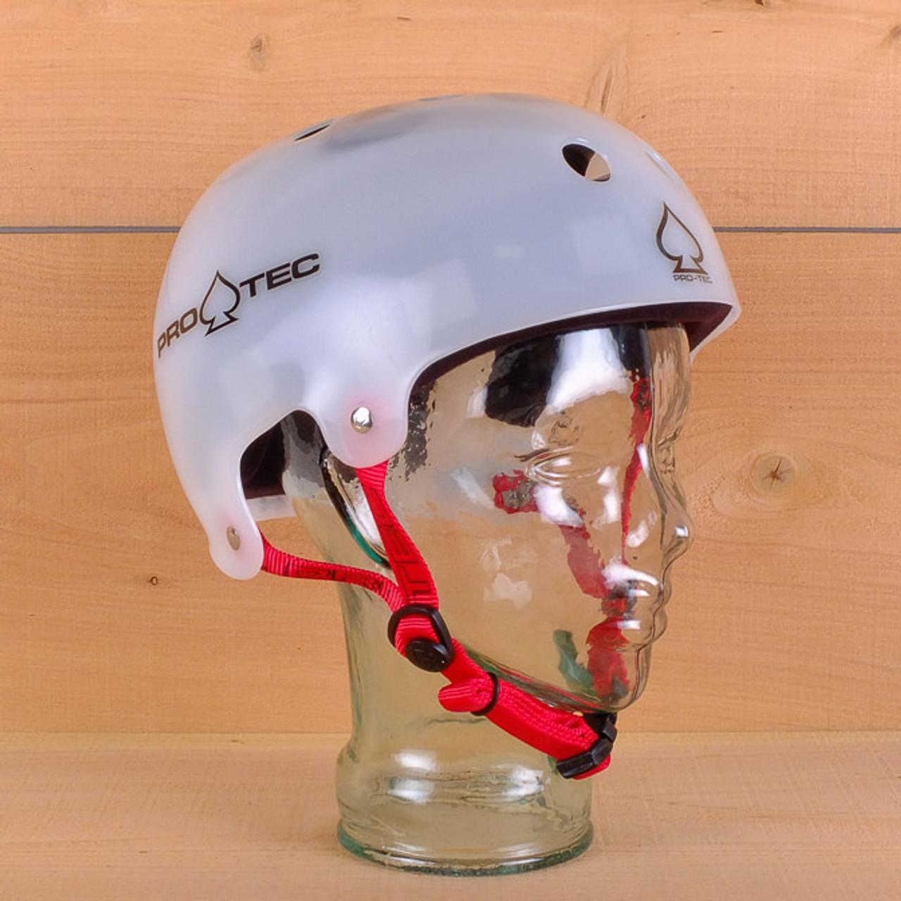 Pro-Tec Classic Bucky Lasek Skateboard Skate Helmet LARGE Translucent White