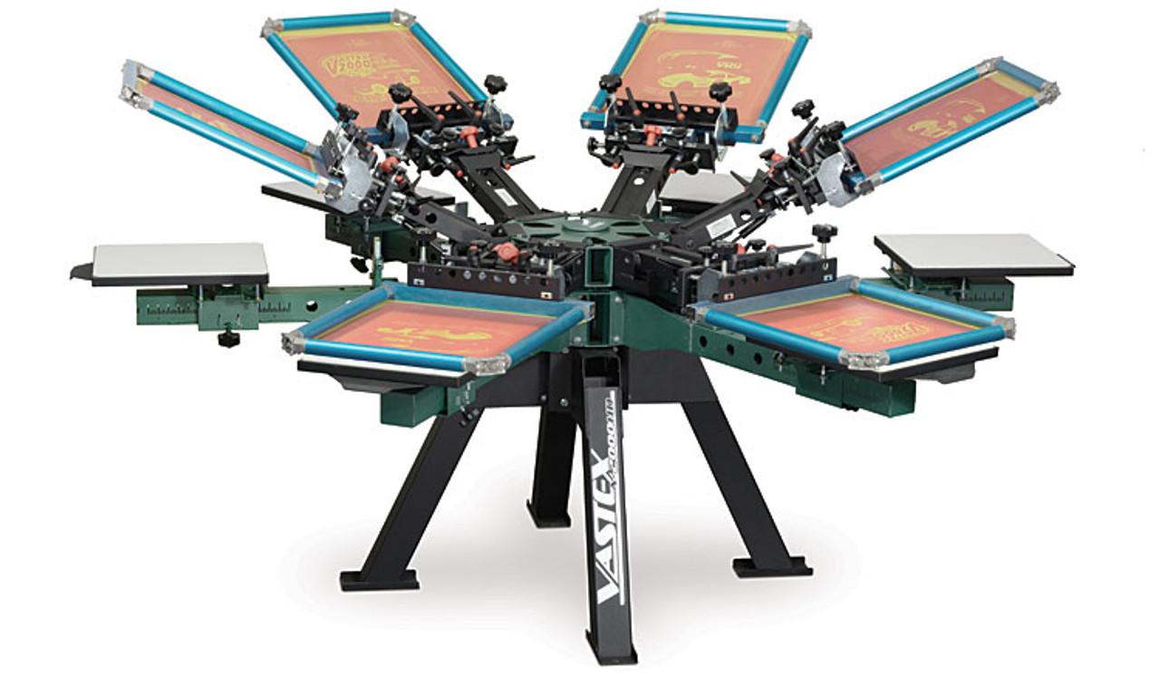 Vastex V-2000HD Screen Printing Press for t-shirt Printing