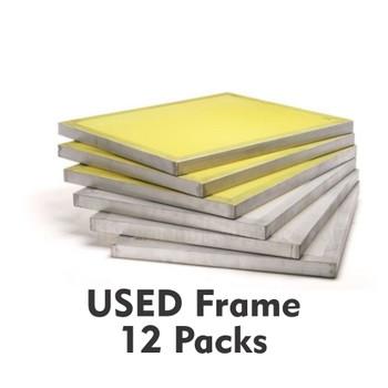 12 Pack USED 20x24 Aluminum Silkscreens
