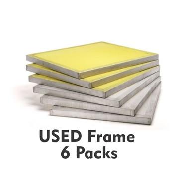 6 Pack USED 25x36 Aluminum Silkscreens