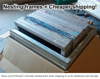 25x36 Restretch Screen with 086 Mesh