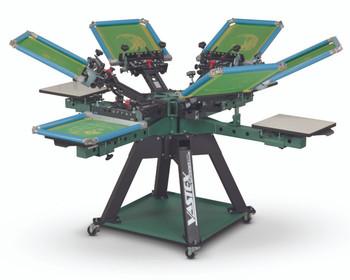 Vastex V-2000HD Floor Standing 4 Station 6 Color Press