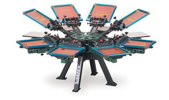 Vastex V-2000HD Floor Standing 8 Station 8 Color Press