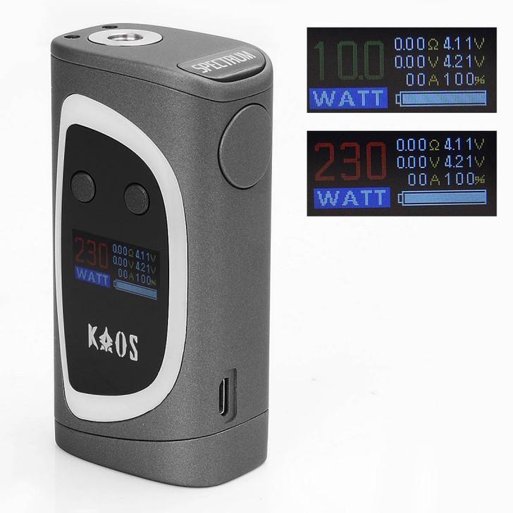 authentic-sigelei-kaos-spectrum-230w-tc-vw-variable-wattage-mod-coffee-purple-zinc-alloy