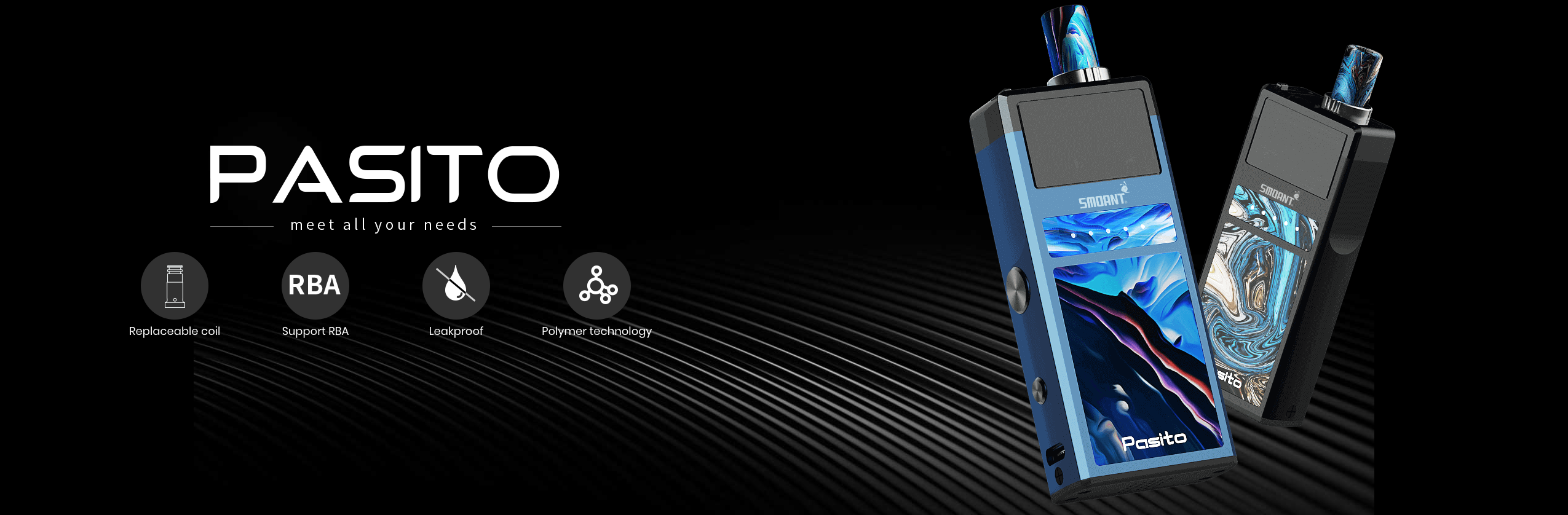 Smoant Pasito Pod Kit at ecigforlife