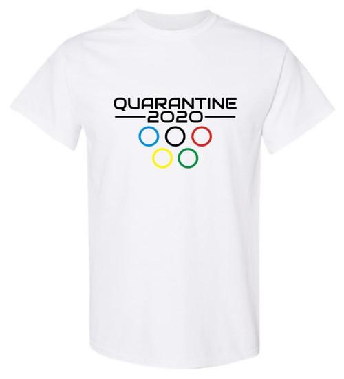 Quarantine Olympics Rings Unisex Tee