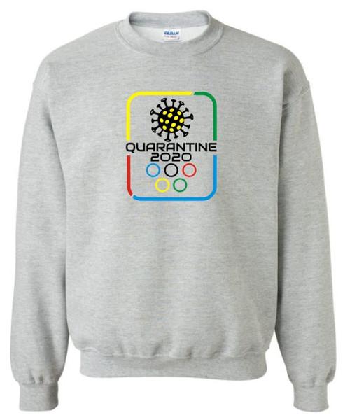 Quarantine Olympics Covid Unisex Crew Neck Sweatshirt