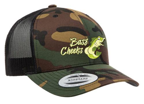 Bass Cheeks Camo Trucker Hat