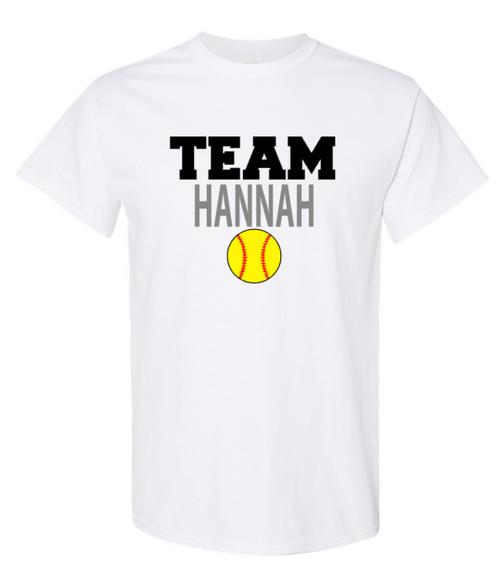 Team Hannah Unisex SS Tee