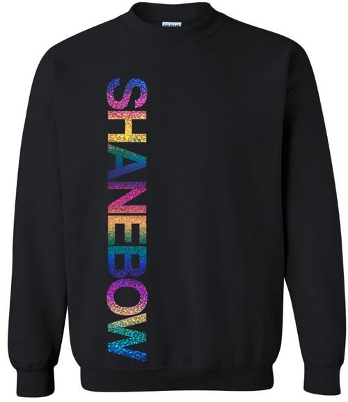 SHANEBOW Holographic Unisex Crew Neck Sweatshirt