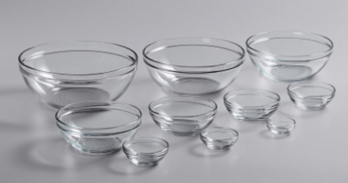 Cooking with Shereen Glass Mixing Bowl Set
