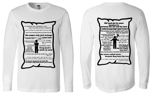 Pillow Comments Long Sleeve  Tee
