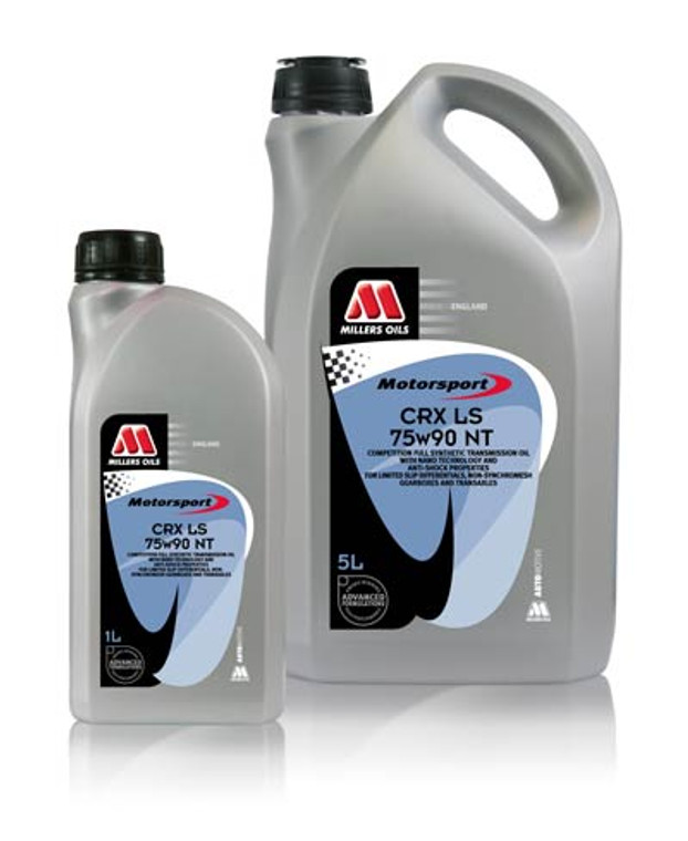 """A new addition to the CRX LS NT range fitting nicely between the 75w90 and 75w140 grades. A competition heavy duty fully synthetic transmission oil for highly stressed applications with friction modifiers for limited slip differentials. Incorporates """"Nano Technology"""" additive chemistry to significantly reduce internal frictional and power losses, whilst providing additional shock protection to the gear mechanism."""
