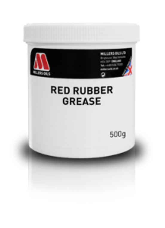 Vegetable oil thickened grease with Pyrogenic Silica. Red in appearance.