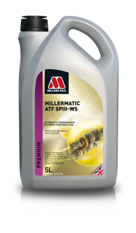Millers Oils Millermatic ATF SPIII WS - 1 Liter Bottles - 6213 - Premium fully synthetic automatic transmission fluid.