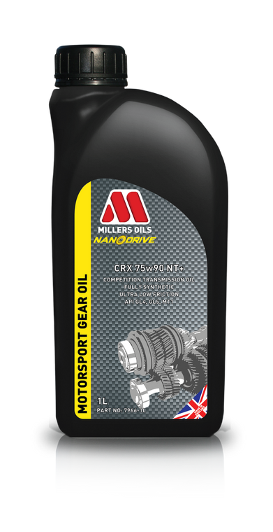 Millers Oils CRX 75w90 NT+ 1 Liter | Competition fully synthetic transmission oil.