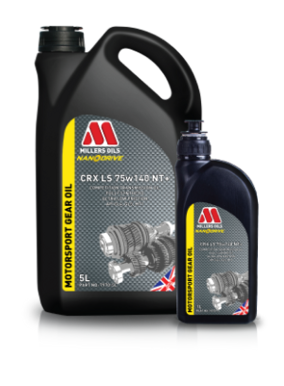 Millers Oils CRX LS 75w140 NT+ | Competition heavy duty fully synthetic transmission oil for highly stressed applications with friction modifiers for limited slip differentials.