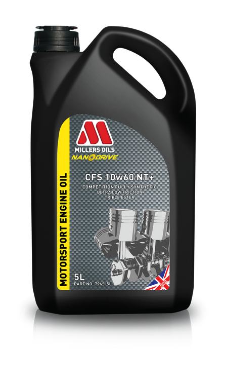 Millers Oils CFS 10w60 NT+ 5 Liter Jug.  Fully Synthetic Triple Ester Nano Technology ultra low friction formulation.