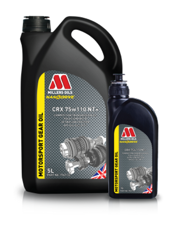 Millers Oils CRX 75w110 NT+ 5 Liter | Competition fully synthetic transmission oil.