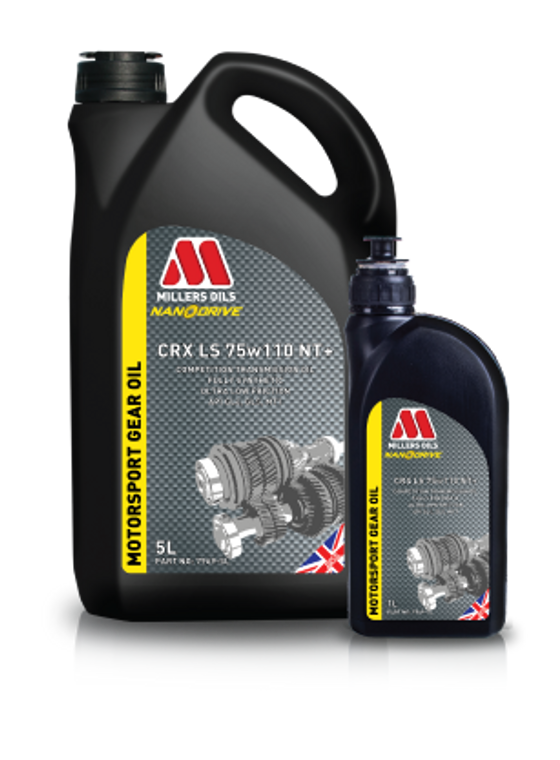 Millers Oils CRX LS 75w110 NT+ 5 Liter | Competition fully synthetic transmission oil.
