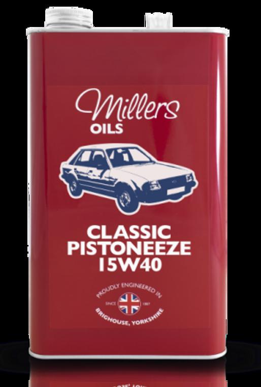 Classic Pistoneeze 15W40 - Mineral Oil - 5 Liter Can