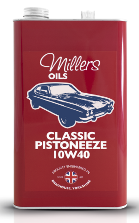 Classic Pistoneeze 10W40 - Mineral Oil - 5 Liter Can
