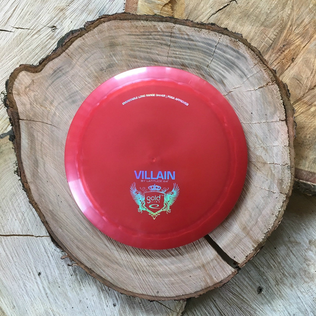 Latitude 64 Gold Line Villain red with a silver stamp