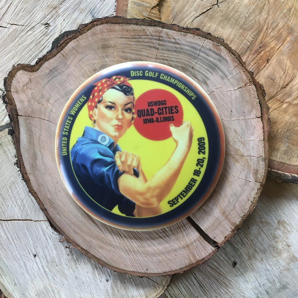 """Innova Star Classic Roc with an InnColor 2009 USWDGC """"Rosie the riveter"""" design"""