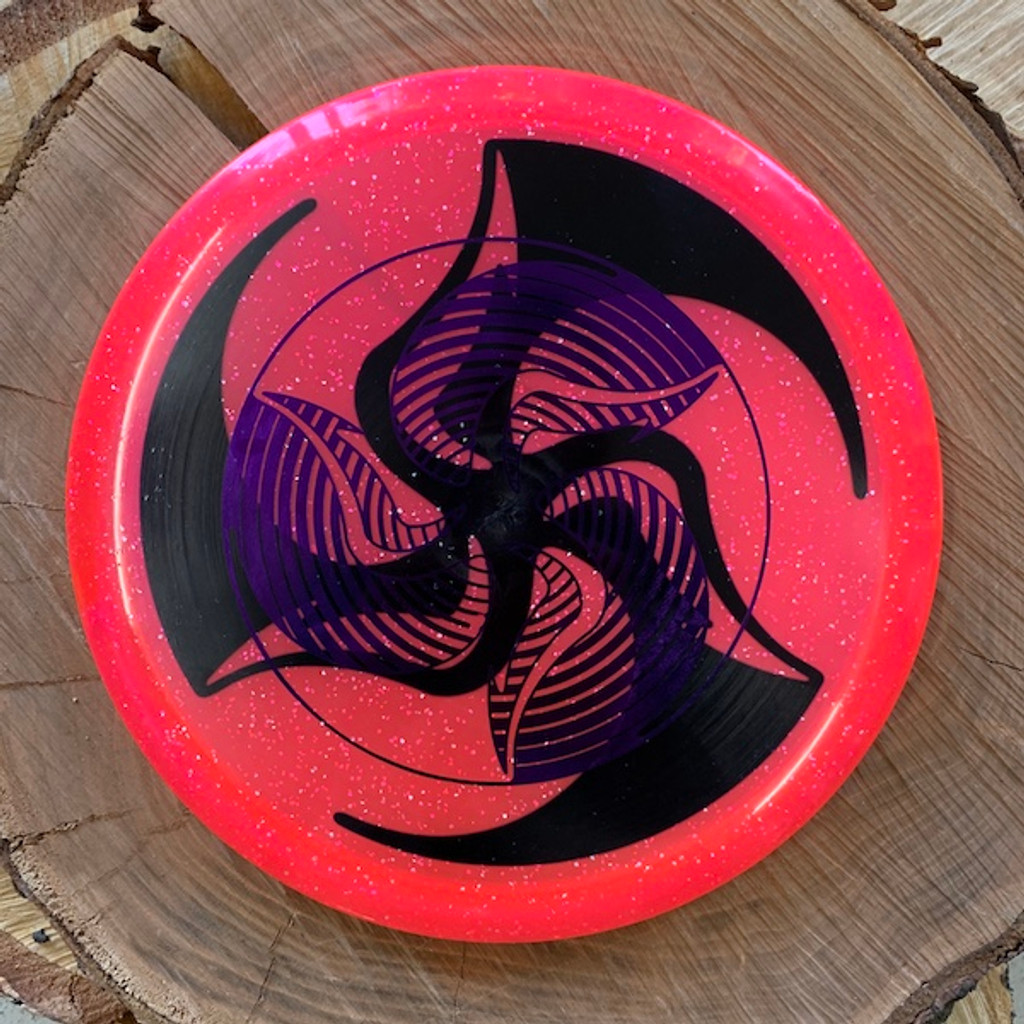 TriFly dyed Hypno stamped Discmania Metal Flake C-Line MD4