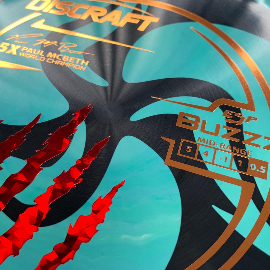 TriFly Dyed Paul McBeth 5X ESP Buzzz stamp
