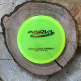 Innova Champion Spider yellow Pre-Flight number rainbow stamp