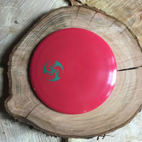 Innova Echo Star red Destroyer with a green Huk Lab mini TriFly stamp