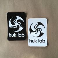 Huk Lab vinyl Logo Stickers black and white