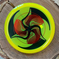 TriFly dyed Hypno stamped Discmania C-Line MD4